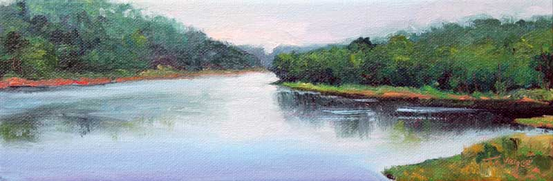 Hazy Summer River