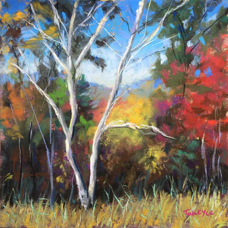 """Twin Birch"" | 6x6"" | Pastel"